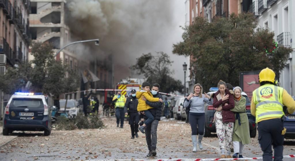 FUERTE EXPLOSION EN MADRID