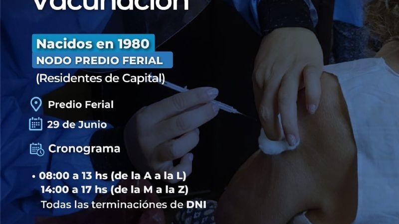 VACUNAN A CLASE 1980 EN EL PREDIO FERIAL