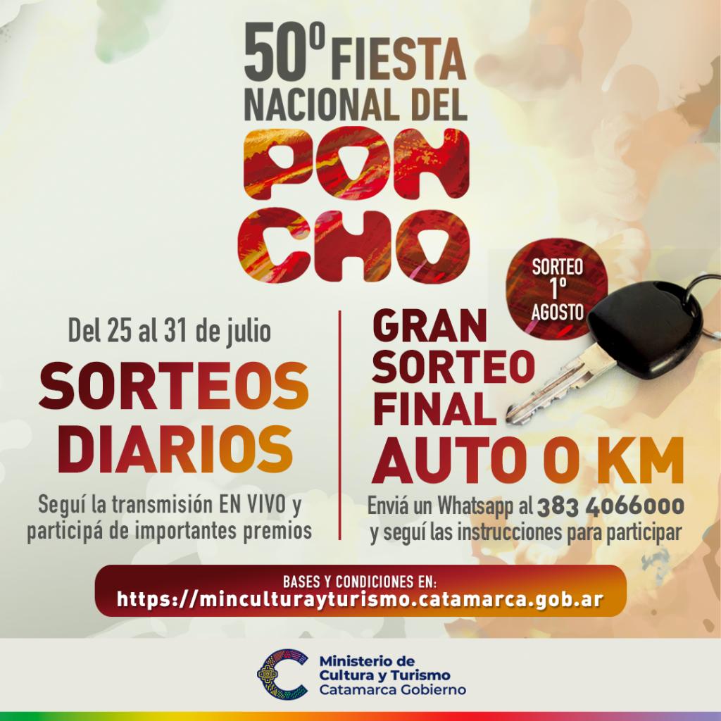 SE SORTEA EL AUTO 0KM DEL PONCHO 2021