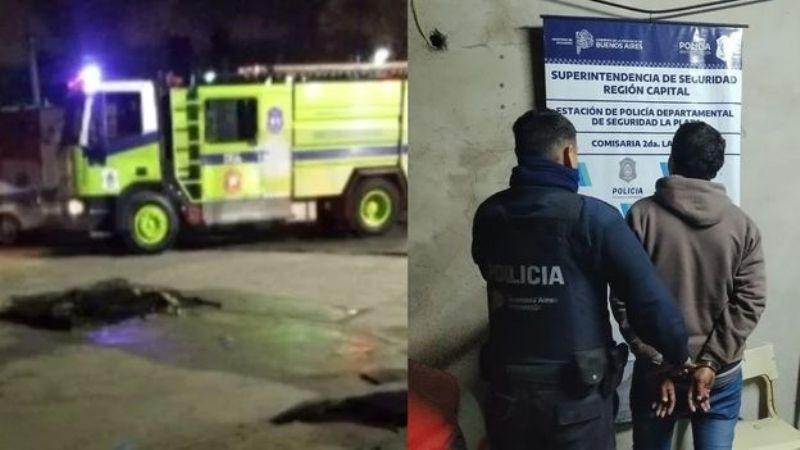 ROCIÓ CON ALCOHOL E INCENDIO A UN INDIGENTE