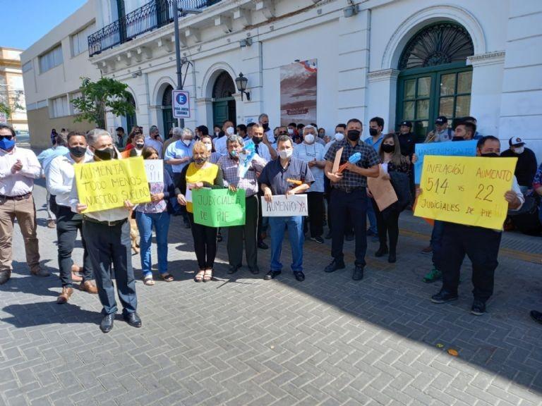 PROTESTA DE EMPLEADOS JUDICIALES