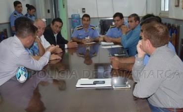 Reunión de autoridades por las Fiestas Marianas